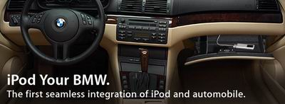 iPod Your BMW - 图片来自 http://www.apple.com/ipod/bmw/